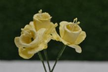 YELLOW DAFFODIL / NACISSUS (2.1cm) Mulberry Paper Flowers